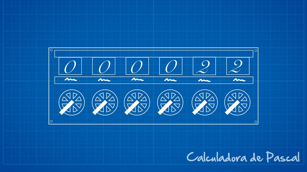 Calculadora de Pascal - Esquema lúdico