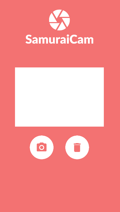 Layout Aplicativo SamuraiCam