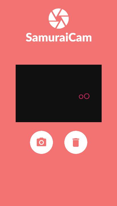 Aplicativo SamuraiCam para testar a Câmera do React Native